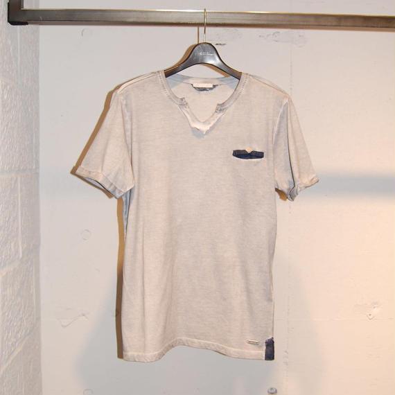 【SSEINSE】VネックTシャツ ライトグレー