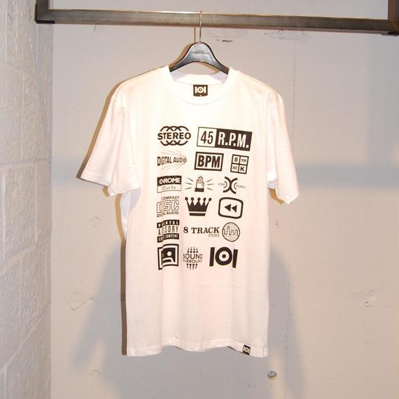 【101】ロゴプリントT ホワイト
