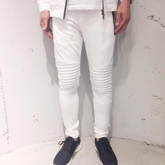 【Custom Culture】バイカースウェットパンツ ホワイト