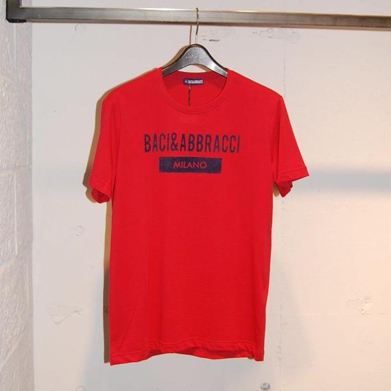 【BACI&ABBRACCI】フロントロゴTシャツ レッド