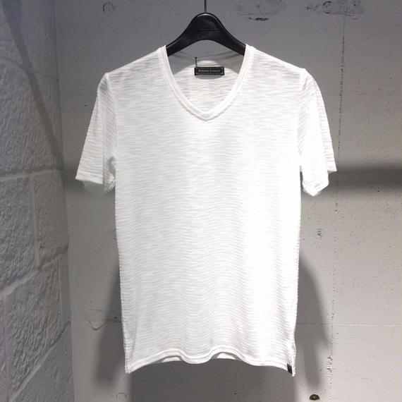 【Custom Culture】ランダムリップルTシャツ ホワイト
