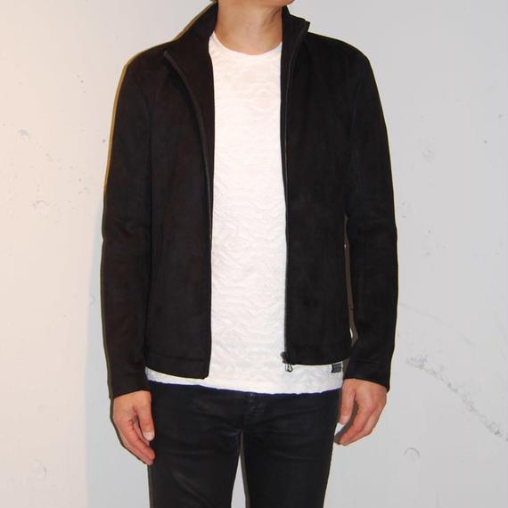 【Custom Culture】スエード風カットジャケット ブラック