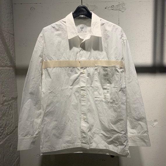 【291295=HOMME】コットンダンプ オーバーシャツ ホワイト