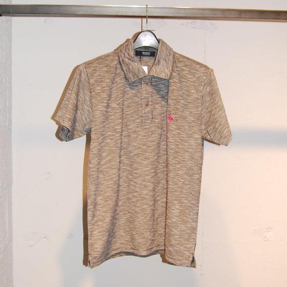 【REQUEST】フラミンゴ刺繍ポロシャツ グレー系