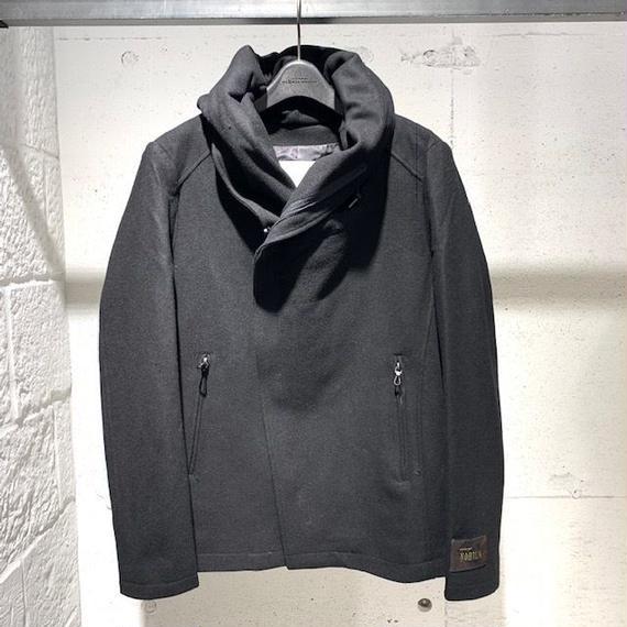 【Custom Culture】ヘビーメルトン ボリュームネックブルゾン ブラック