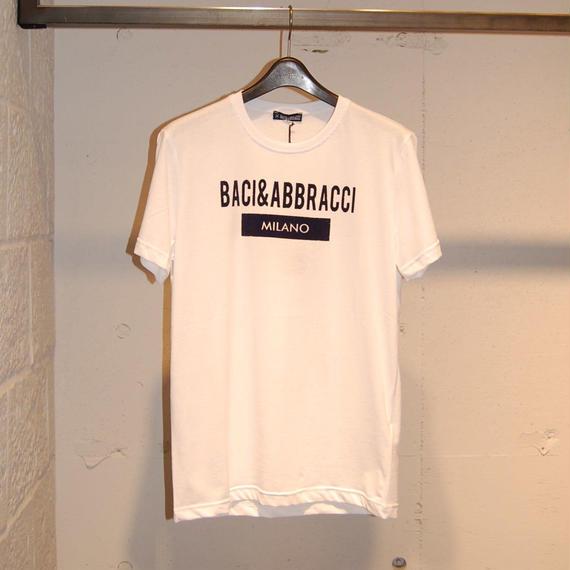 【BACI&ABBRACCI】フロントロゴTシャツ ホワイト