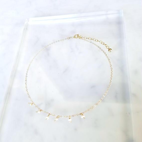 【残り1点!】【New】14kgf Tiny Pearl Choker Necklace