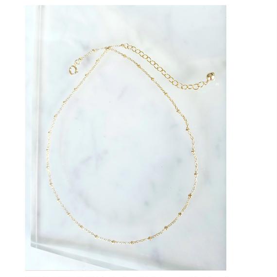 【残り1点!】【New】14kgf Gold Choker Necklace
