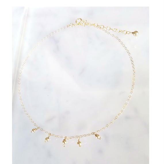 【🌟再販🌟】14kgf 5Dots Choker Necklace
