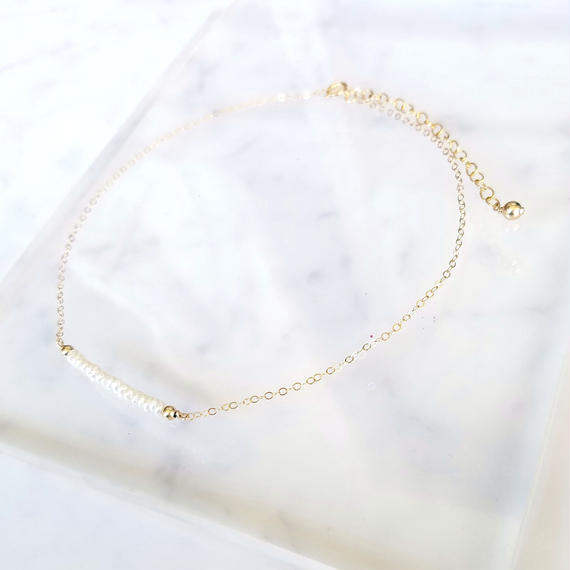 【🌟再販🌟】14kgf Pearl Choker Necklace