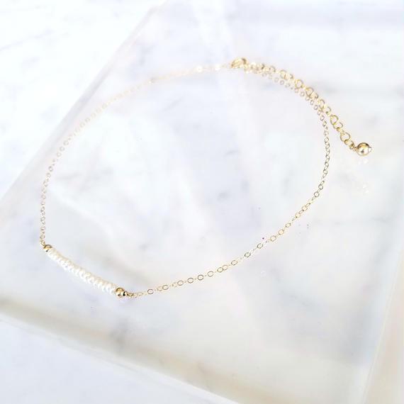 【残り1点!】【New】14kgf Pearl Choker Necklace