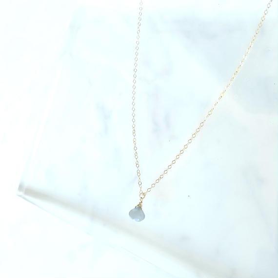 【残り1点】【New】14kgf Gray Moon Stone Choker Necklace 【AAAクオリティ天然石 ムーンストーン】