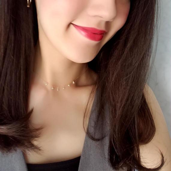 【🌟再販🌟大人気🌟】14kgf Tiny Pearl Choker Necklace