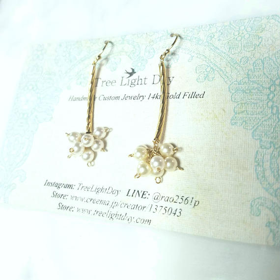 【New】14kgf Our Garden Swarovski Pearls
