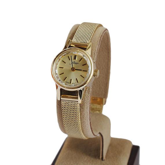 fleur:フル―ル《F002 -  GOLD/MESH》腕時計 メタルメッシュベルト
