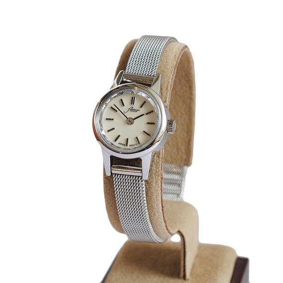 fleur:フル―ル《F002 -  SILVER/MESH》腕時計 メタルメッシュベルト