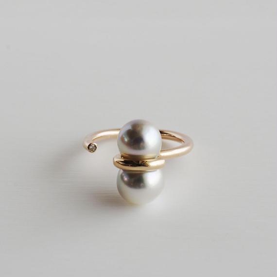 januka:ヤヌカ《Twin pearl collection 双子パール リング》TWR-01