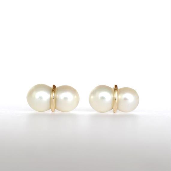 januka:ヤヌカ《Twin pearl collection 双子パールピアス L ペア》TWP-01 L
