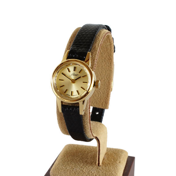 fleur:フル―ル 《F002 - GOLD/BLACK》腕時計 リザードベルト