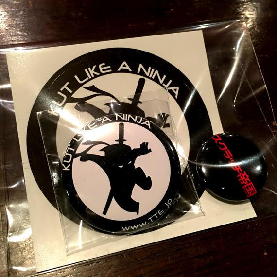 Ninja Kutry Badge & Sticker Set