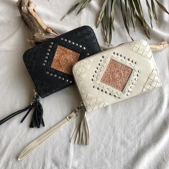 Mandala Leather Wallet