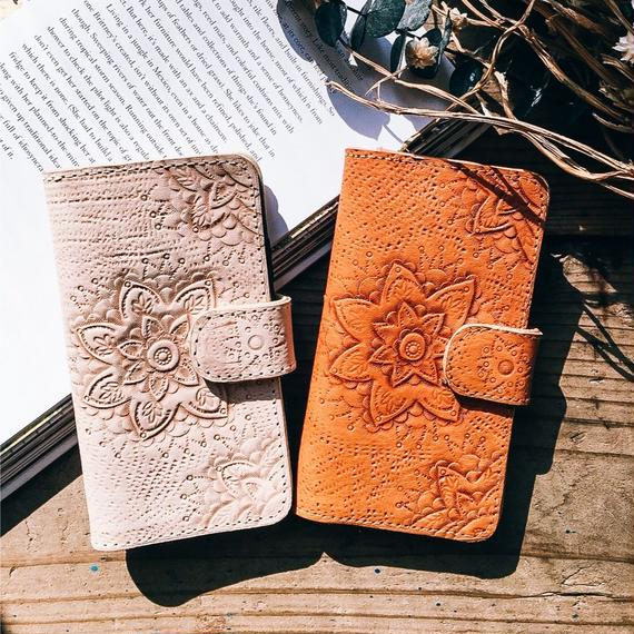 Mandala Leather iPhone Case