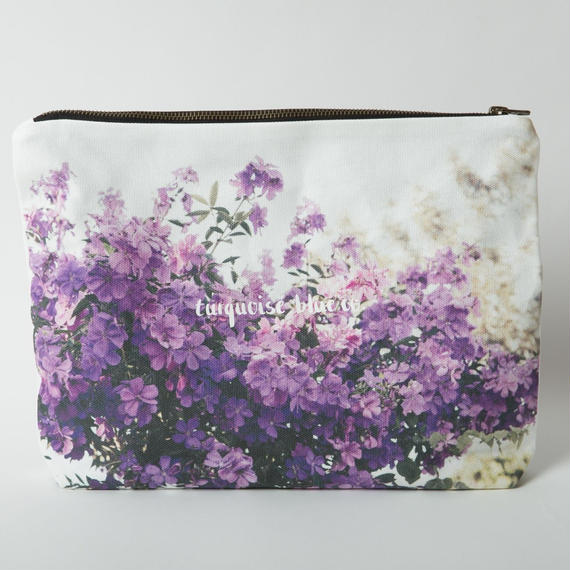 "Canvas Clutch Bag""Purple Haze"""