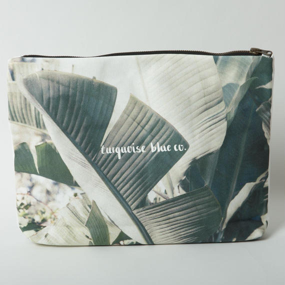 "Canvas Clutch Bag""Wategos Leaf"""