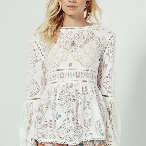 SPELL & THE GYPSY COLLECTIVE-CLOVER LACE BLOUSE-