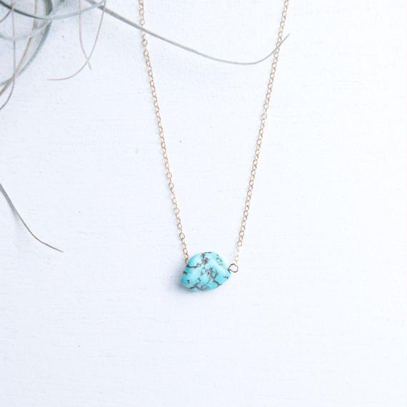 turquoiseblueco シンプルネックレス