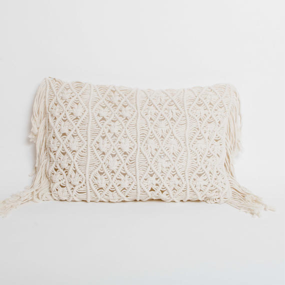 Macrame Cushion Cover 30 x 46