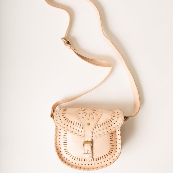The Gypsea Leather Shoulder Bag / S