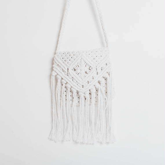 Macrame Square Shoulder Bag