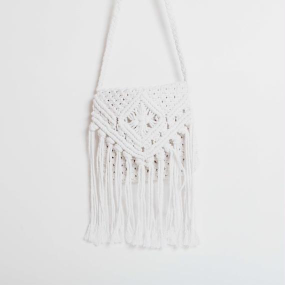 Macrame Square Shoulder Bag