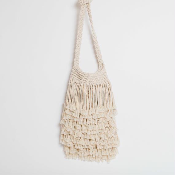 Macrame Fringe Shoulder Bag