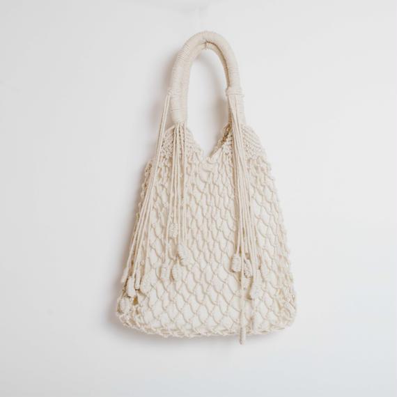 Macrame Fringe Tote Bag