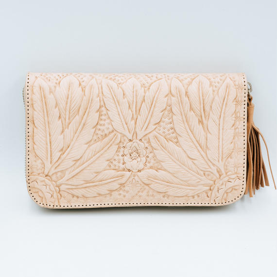 TBC Select / Boho feather Curve Wallet  2 Colors