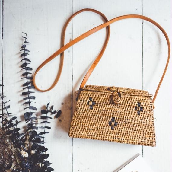 The Gypsea  Straw Shoulder Bag