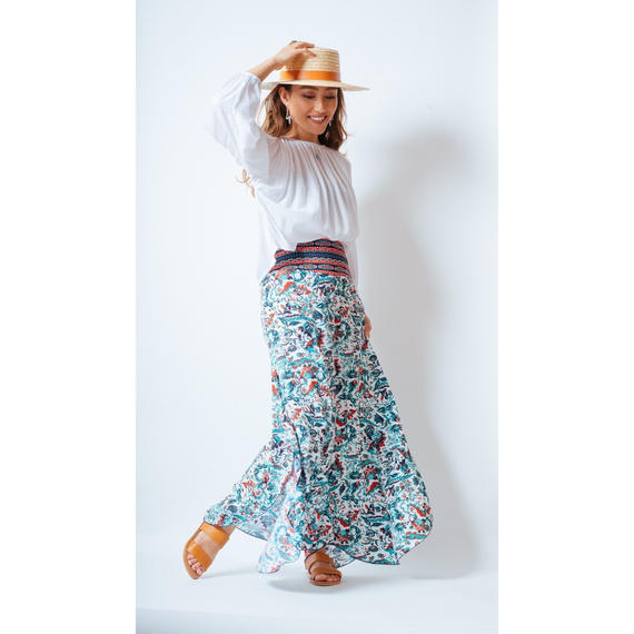 Mila The Label '18ss Thai Pants / Cherry, Turquoise