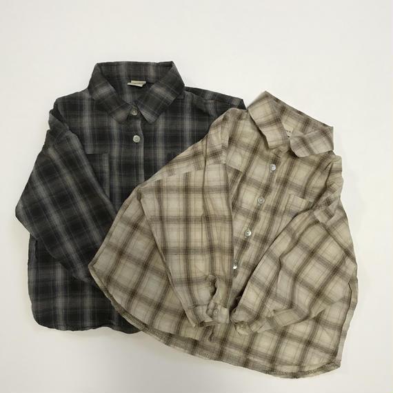 Thin check shirt