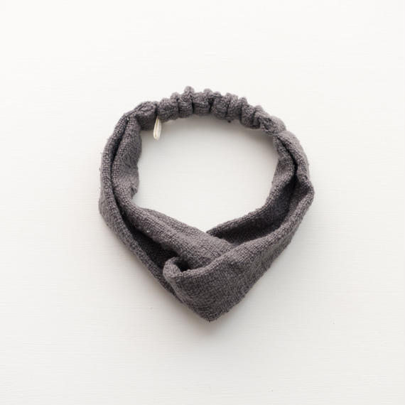 ORGANIC COTTON  hair band  cross    Gray
