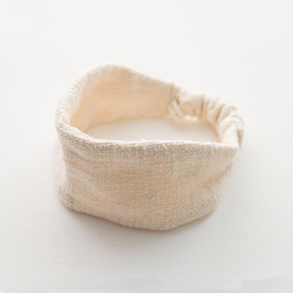 ORGANIC COTTON  hair band  straight   Natural