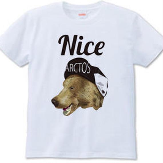 Nice KUMA(Tシャツ white・ash)
