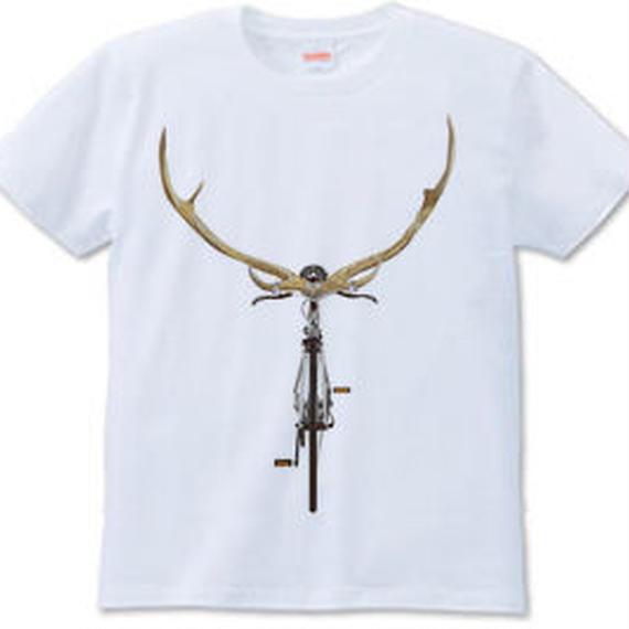 エゾシカバイシクル(Tシャツ white・ash)