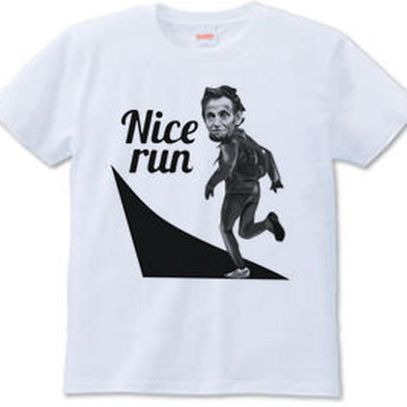 Nice run mono(Tシャツ white・ash・gray)