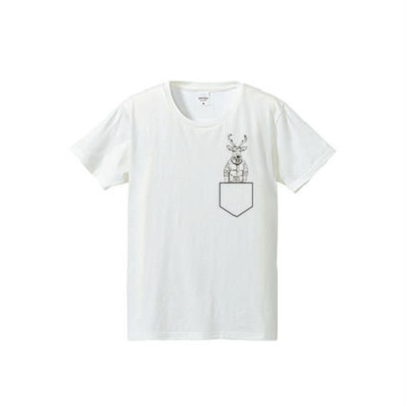 Deer pocket(4.7oz T-shirt)