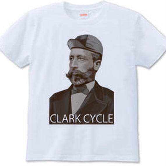 CLARK CYCLE(Tシャツ white・ash)