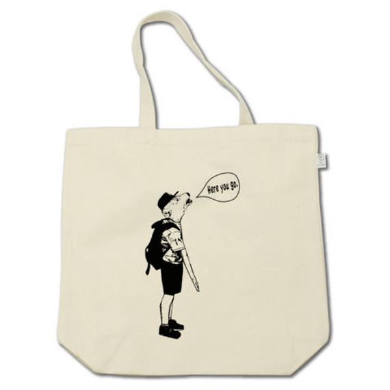 Here you go. (tote bag)