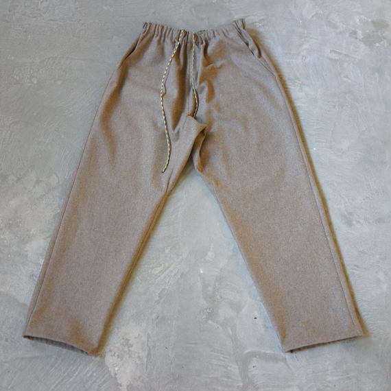 ACTIVE EASY PANTS MELTON LIGHT BROWN