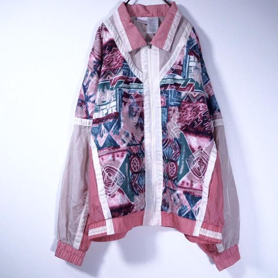 Geometric Nylon Jacket
